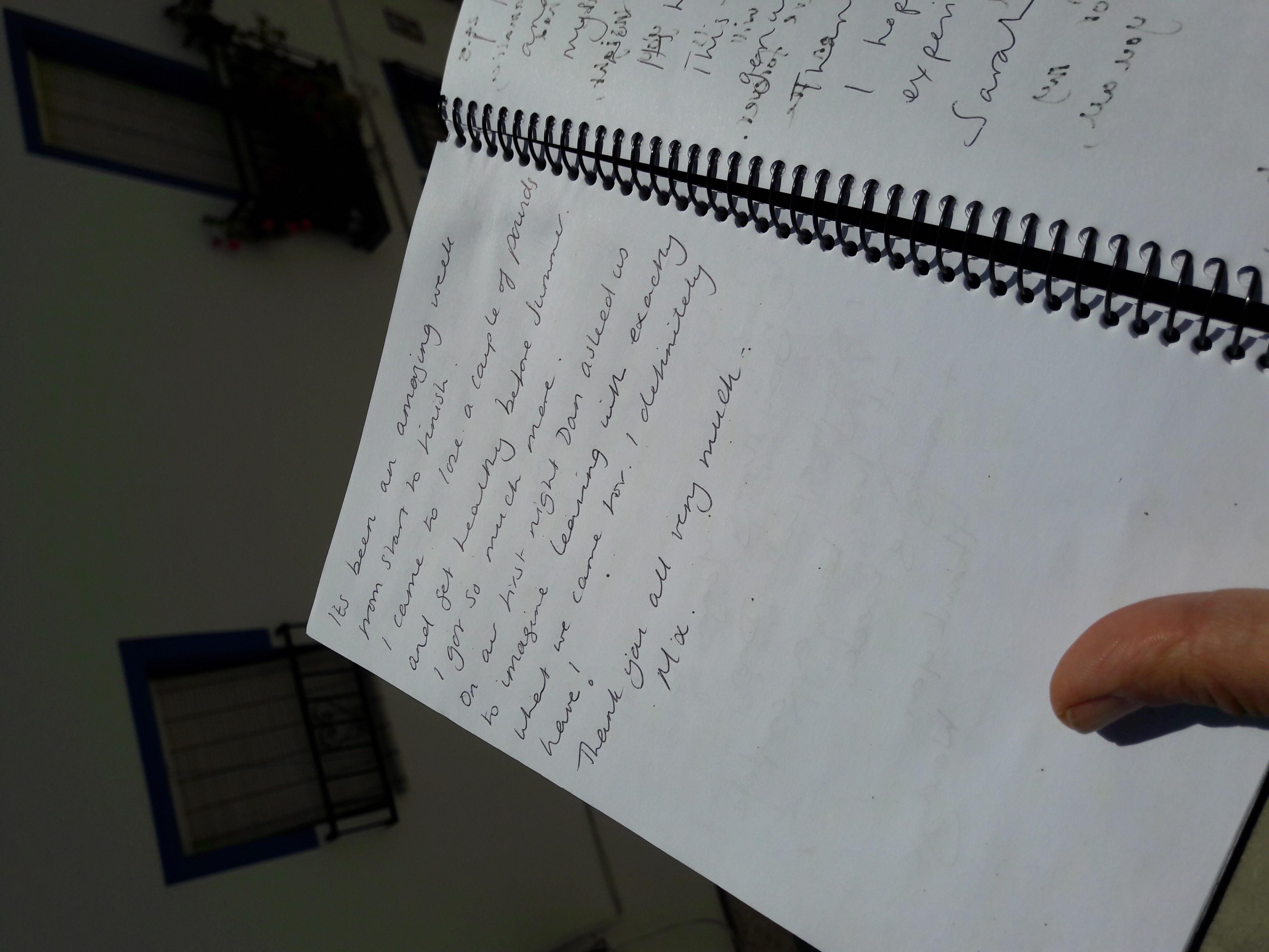 olive retreat testimonial hand written1