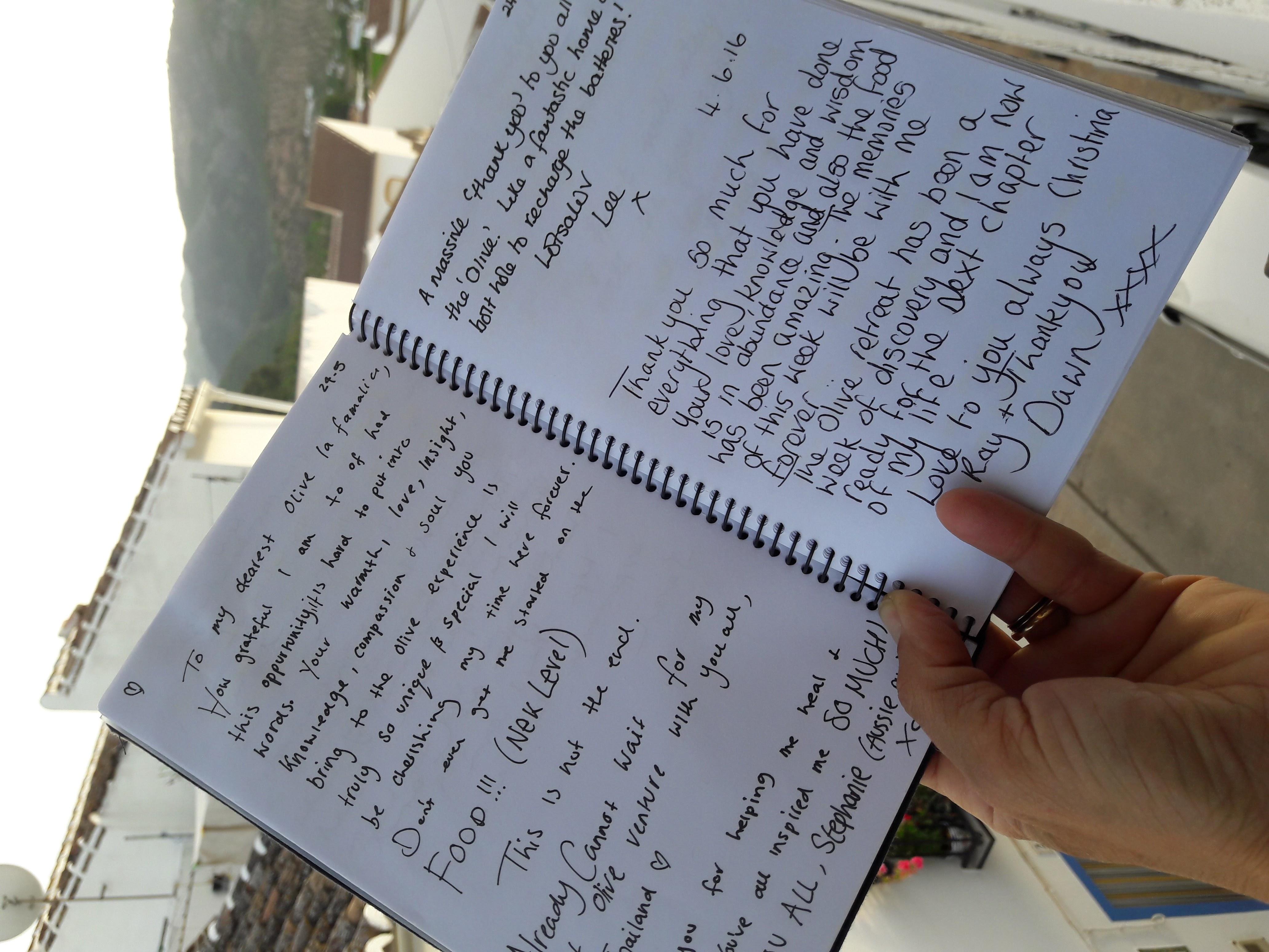 olive retreat testimonial hand written5